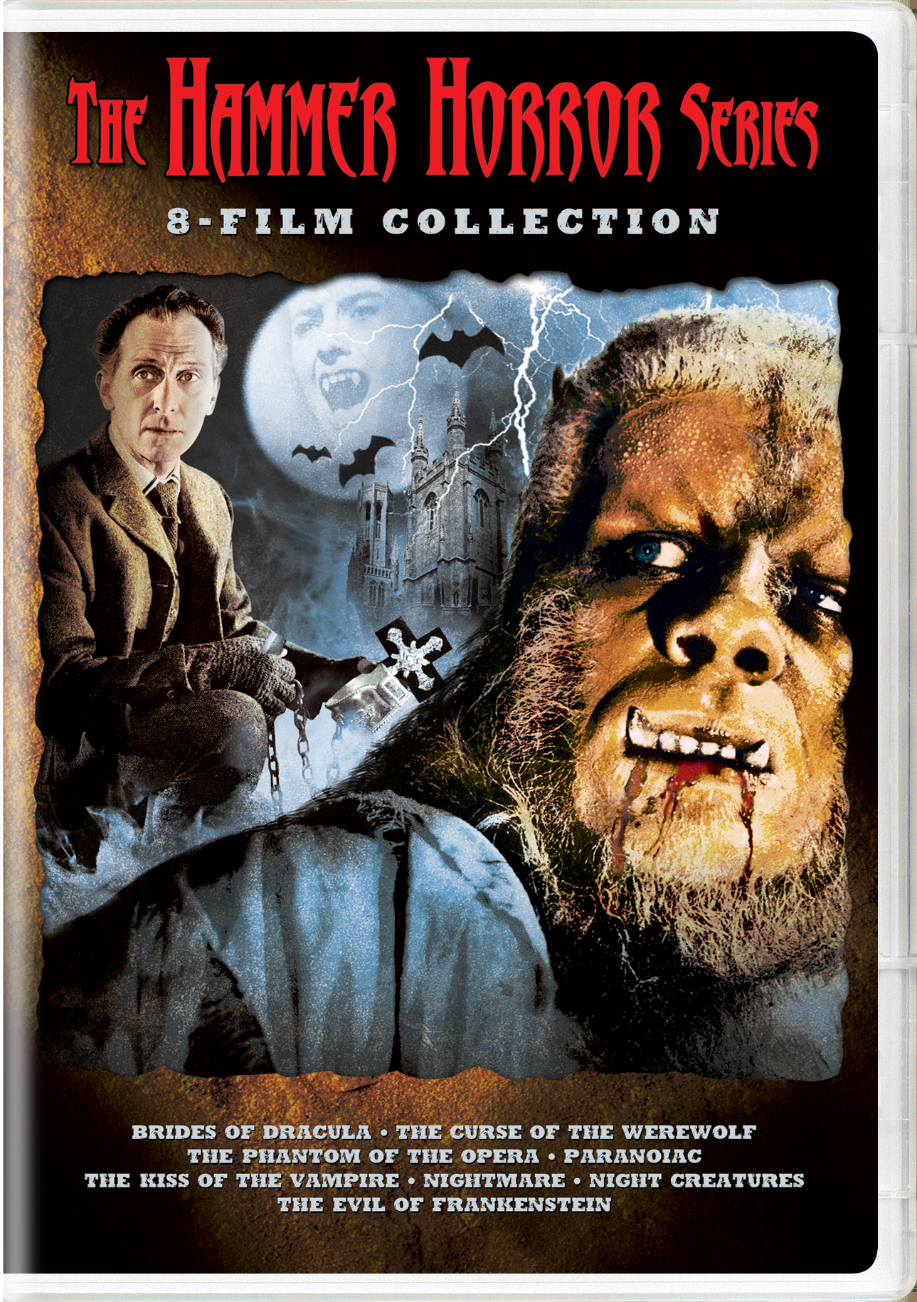 The Hammer Horror Series 8 Film Collection Box Set Dvd