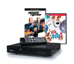 Home DVD Player with 2 DVD Movies (Hobbs & Shaw and The Secret Life Of Pets 2) Bundle [Hardware]